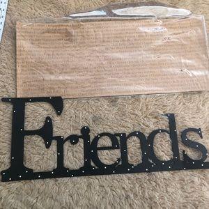 "NEW ""Friends"" By DEMDACO Metal wall word"